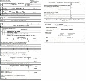 Tax declaration